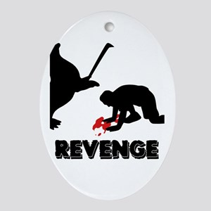 Revenge of the seals Oval Ornament