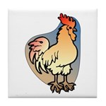 Animal Art Rooster Tile Coaster