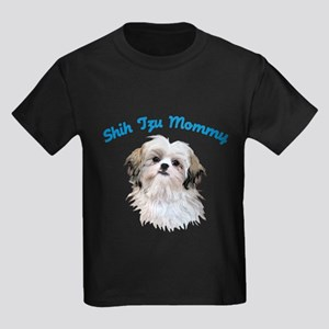 Shih Tzu Mommy Kids Dark T-Shirt