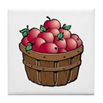 Nature Art Apple Basket Tile Coaster