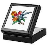 Floral Art Bouquet Keepsake Box