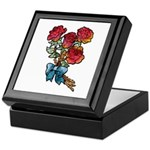 Floral Art Red Roses Keepsake Box