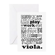 The Viola Life Greeting Card