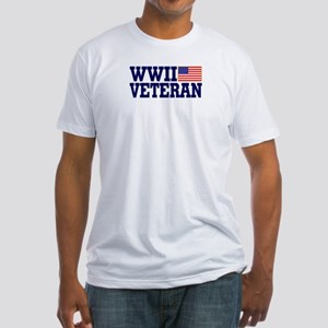 WWII VETERAN Fitted T-Shirt