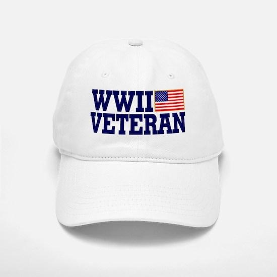 WWII VETERAN Baseball Baseball Cap