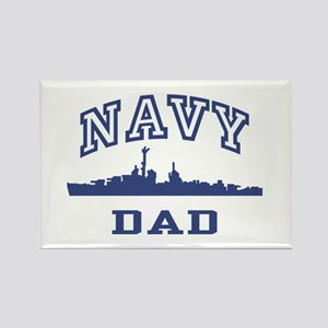 Navy Dad Rectangle Magnet