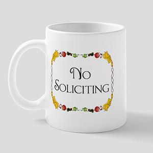 Cat Design No Soliciting Mug