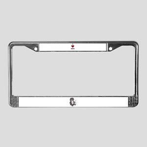I LOVE GRANDPA License Plate Frame