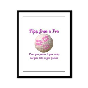 Keep Your Putter In Your Pants Framed Panel Print