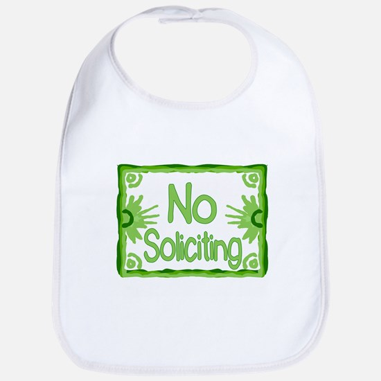 Green No Soliciting Bib