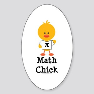Math Chick Oval Sticker