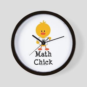 Math Chick Wall Clock
