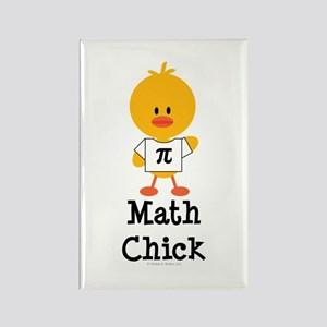Math Chick Rectangle Magnet