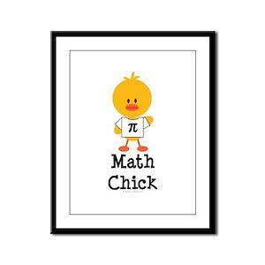 Math Chick Framed Panel Print