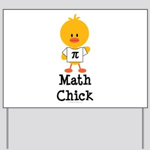 Math Chick Yard Sign