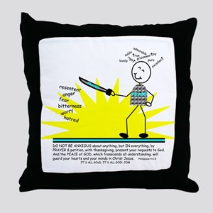 PRAY AT ALL TIMES Throw Pillow