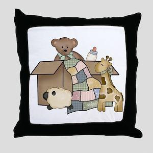 Baby Box Throw Pillow