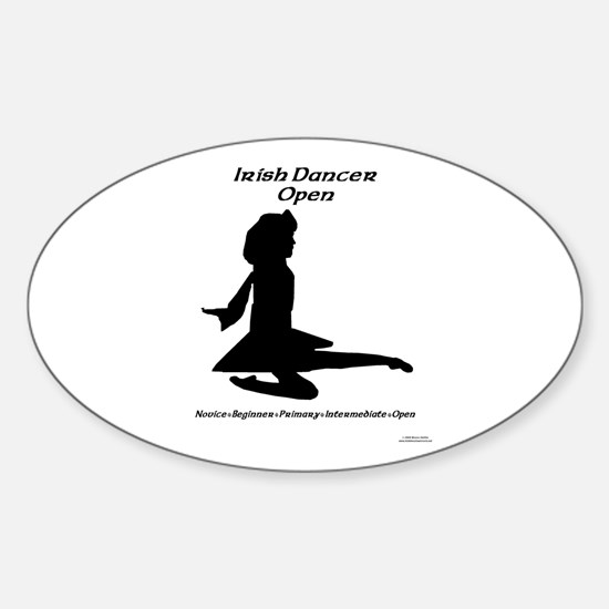 Girl (A) Open - Oval Decal