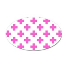 Pink Plus Signs Pattern (Rev Wall Decal