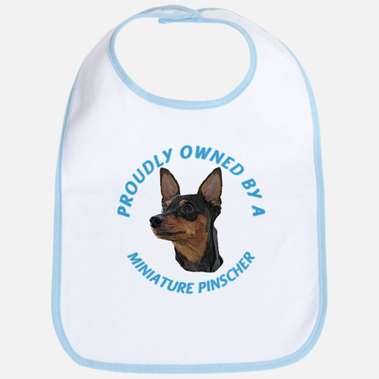 Proudly Owned Min Pin Bib