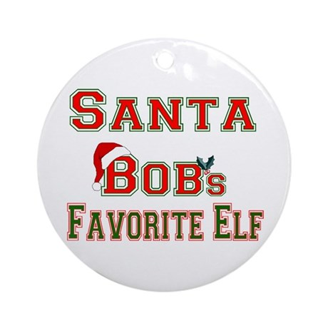 Santa Bob Ornament (Round)