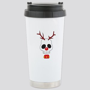 Skull - Reindeer Stainless Steel Travel Mug