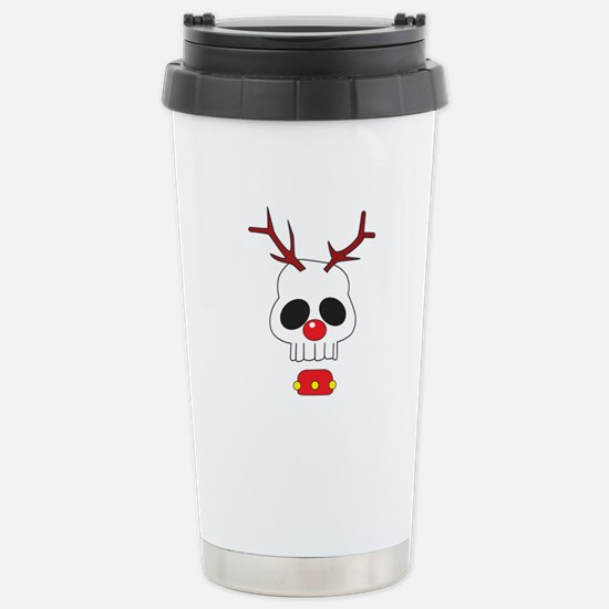 Skull - Reindeer Stainless Steel Travel Mug