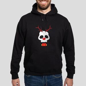 Skull - Reindeer Hoodie (dark)