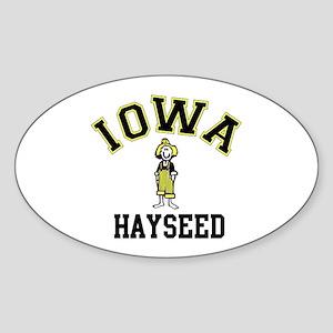 Iowa Hayseed Oval Sticker