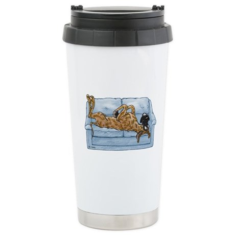 NBr On Couch Stainless Steel Travel Mug