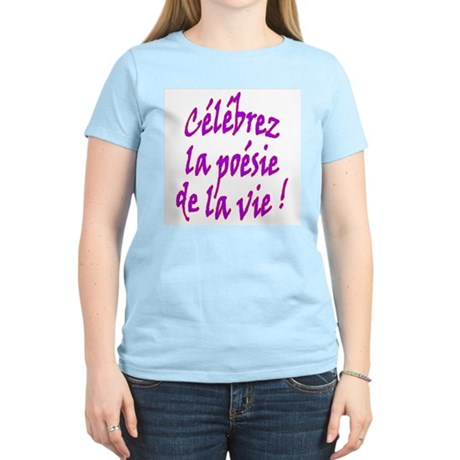 Poetry of Life French Women's Pink T-Shirt