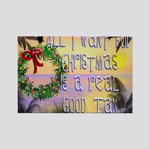 White Christmas Rectangle Magnet