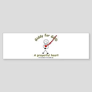 A Prayerful Heart Bumper Sticker