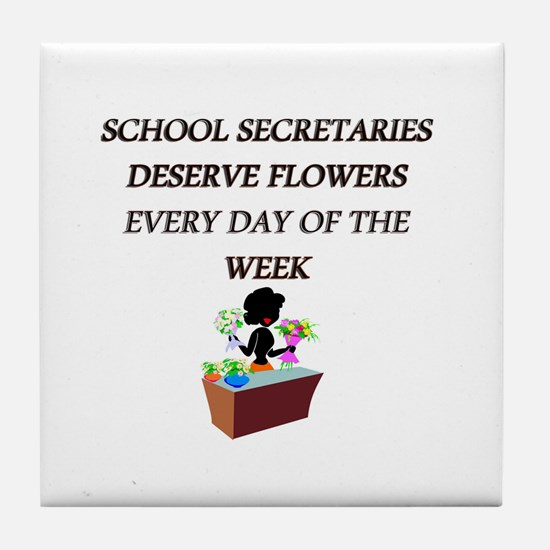 School secretary day Tile Coaster