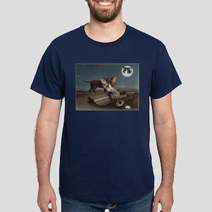 Sleeping Gypsy with Cats Dark T-Shirt