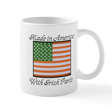 'Made in America With Irish Parts' Mug