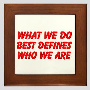 WHAT WE DO Framed Tile