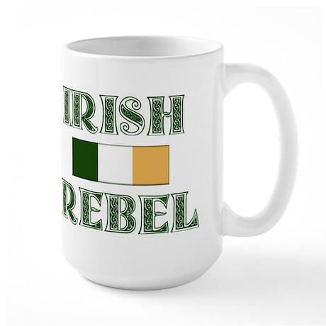 Irish Rebel w/Flag Large Mug