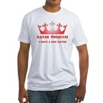 Red Kayak Fitted T-Shirt