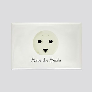 Save the Seals Rectangle Magnet