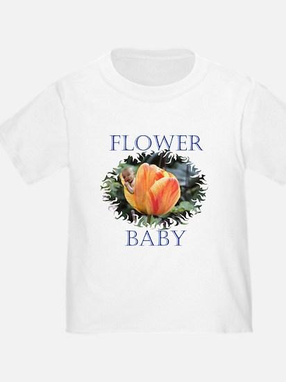 Tulip Flower Baby T