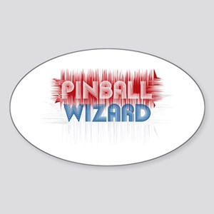 Pinball Wizard Oval Sticker