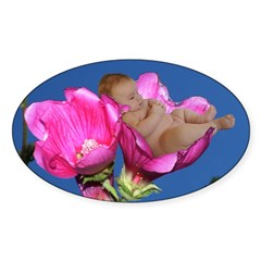Lisianthus Flower Baby Oval Decal