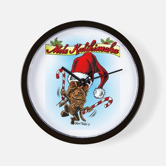 Dancing Christmas Tiki Wall Clock
