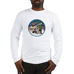 XmasMagic-GShep-2 Cats Long Sleeve T-Shirt