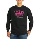 Kayaking Princess - Pink Long Sleeve Dark T-Shirt
