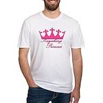Kayaking Princess - Pink Fitted T-Shirt