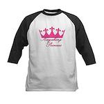 Kayaking Princess - Pink Kids Baseball Jersey