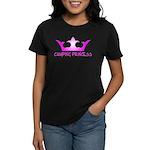 Camping Princess - Hot Pink Women's Dark T-Shirt