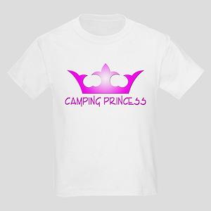Camping Princess - Hot Pink Kids Light T-Shirt